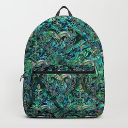 Persian Oriental pattern abalone and silver Backpack