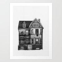 detroit Art Prints featuring DETROIT  by CALLY