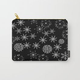 Black and White Snowflakes Carry-All Pouch