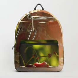 Fresh cherrie in glass Backpack