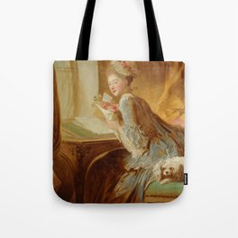 "Jean Honoré Fragonard (1732–1806) ""The Love Letter"" Tote Bag"