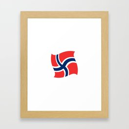 flag of norway 14 – Chalk version  snow,scandinavia,scandinavian,norwegian,oslo Framed Art Print