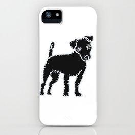 I have Connected the Jack Russell Terrier Doggy Dots! iPhone Case
