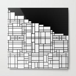 Map Black Boarder Metal Print