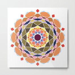 Complex Detailed Abstract Mandala Art Metal Print