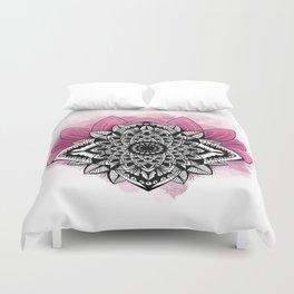 pink lotus Duvet Cover