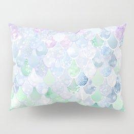 Mermaid Pattern, Lavender, Purple, Mint, Green Pillow Sham