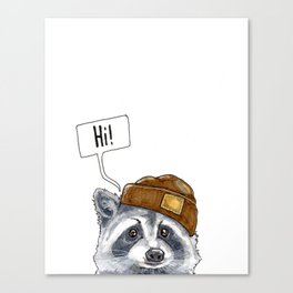 The Curious Mr Racoon  Canvas Print