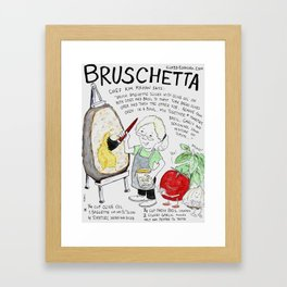 Brush Etta Framed Art Print