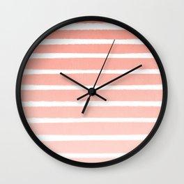 Stripes minimal ombre pattern basic nursery office dorm canvas wall art Wall Clock