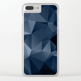 Black and blue polygonal pattern . Clear iPhone Case