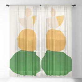 Abstraction_Balance_ROCKS_Minimalism_003 Sheer Curtain