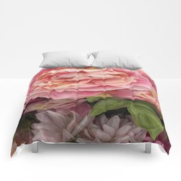 Oil Paint Flower Comforters