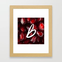 Recettes du Bonheur - pomegranate Framed Art Print