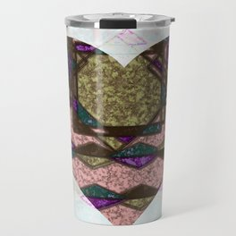 Heart made of patches Travel Mug