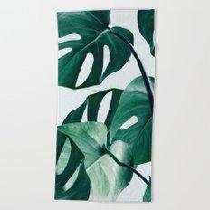 Monstera #society6 #artprints #buyart Beach Towel
