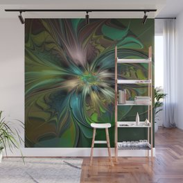 Colorful Abstract Fractal Art Wall Mural