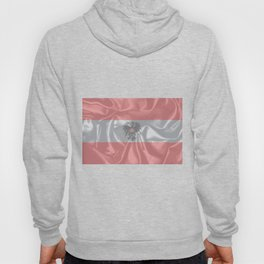 Silk Austrian Flag and Coat of Arms Hoody