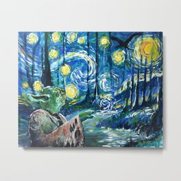 Swampy Night Metal Print