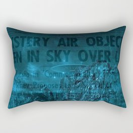 Mystery Air Objects Seen In The Sky Over LA Contemporary Art Portrait Rectangular Pillow