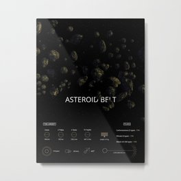 Asteroid belt Metal Print