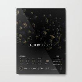 Asteroid belt Metal Print