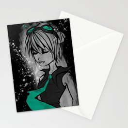 Miss Mental in Turquoise Stationery Cards