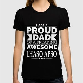 Proud Dad Lhasa Apso Dog Dad Owner Father's Day T-shirt