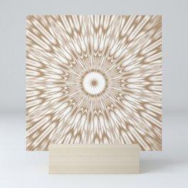 Beige Kaleidoscope Mandala Mini Art Print