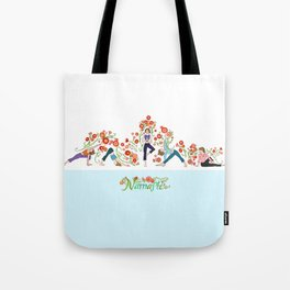 Yoga Girls_Growing With Poses_Robin Pickens Tote Bag