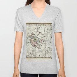 Gemini Constellation Celestial Atlas Plate 15 - Alexander Jamieson Unisex V-Neck