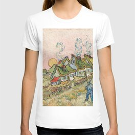 Houses and Figure by Vincent Van Gogh, 1890 T-shirt