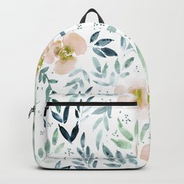 sweet garden - watercolor florals and leaves Backpack