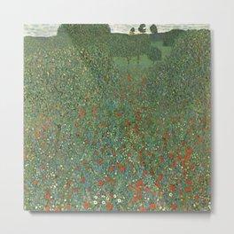 "Gustav Klimt ""Poppy field"" Metal Print"
