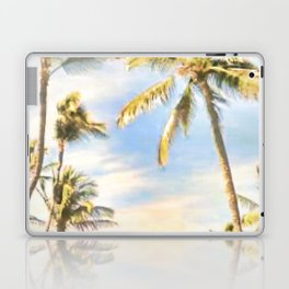 Vintage Hawaiian Beach, Mauna Lani Bay, Blue Laptop & iPad Skin