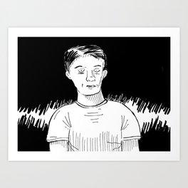 Boy black Art Print