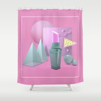 lip Shower Curtains featuring Lip Stain by Nadrient