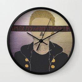 I'm Dead. Wanna Hook Up? Wall Clock