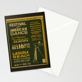 Vintage American WPA Poster - Festival of American dance (1937) Stationery Cards