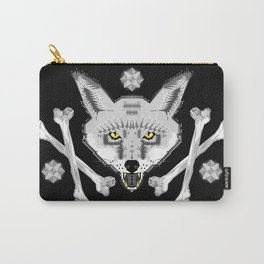Silver Fox Geometric Carry-All Pouch