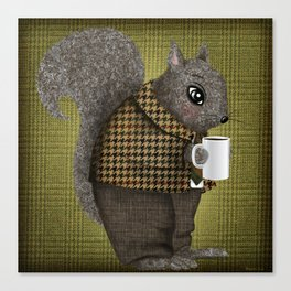 An Early Morning For Mister Squirrel Canvas Print