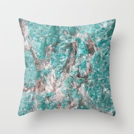 Amazonite Stone Throw Pillow