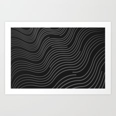 Organic Stripes #03: Monochrome version Art Print