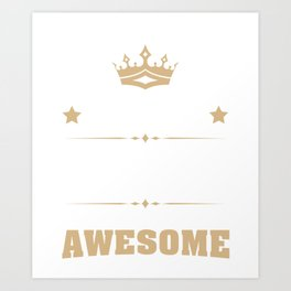 April 1950 68 years of being awesome Art Print
