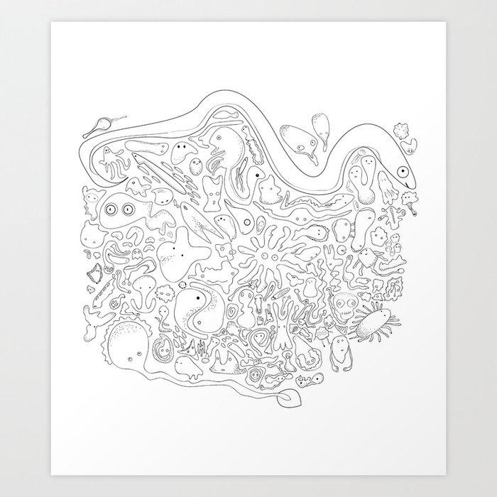 Microbe Family Art Print