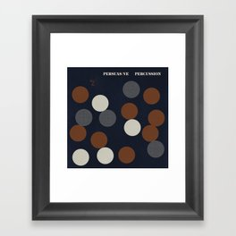 Jazz Revival Collection - Circles Framed Art Print