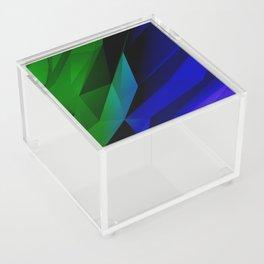 Geo Green and Blue Acrylic Box