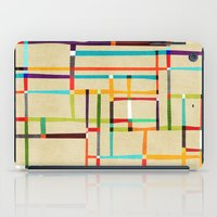 mondrian iPad Cases featuring The map (after Mondrian) by Picomodi