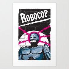 Robocop In Love Art Print