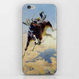 "William Leigh Western Art ""A Fighting Cyclone"" iPhone Skin"